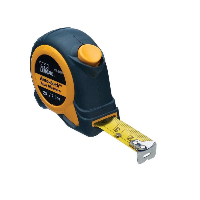 IDEAL Auto-Lock Metric & Imperial Tape Measure, Model 35-242M