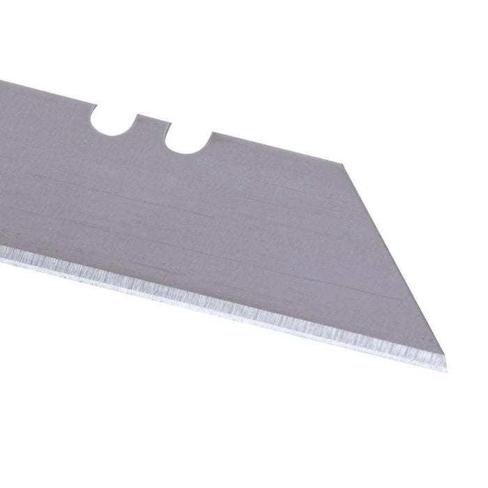 These Utility Knife blades have sharp edges on both sides. Simply reverse the blade for a brand new cutting surface. These standard 2-7/16'' blades are compatible with most utility knives. SKU: KLE44101 UPC: 092644441011