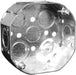Octagon boxes can be used in the installation of ceiling or wall lighting fixtures. SKU: HUB54151KBAR   UPC: 626463001981