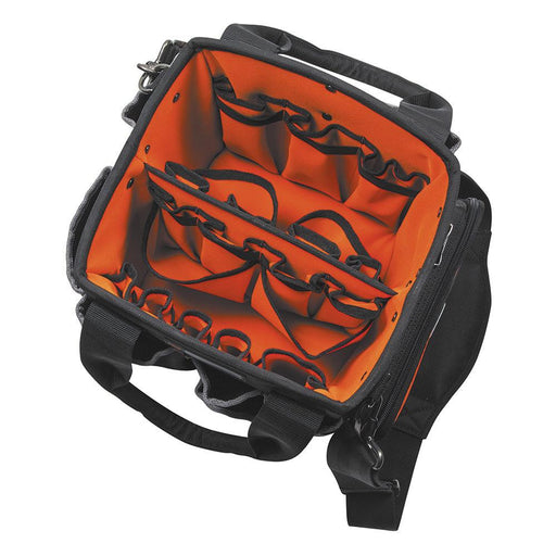Tradesman Pro™ 10-Inch Tote, Large zipper pocket to secure small parts and tools Sub Brand Tradesman Pro Type Electrician's Tool Belts Special Features Tough, durable rubber feet protect from the elements. SKU: KLE554161014 UPC:  092644554636