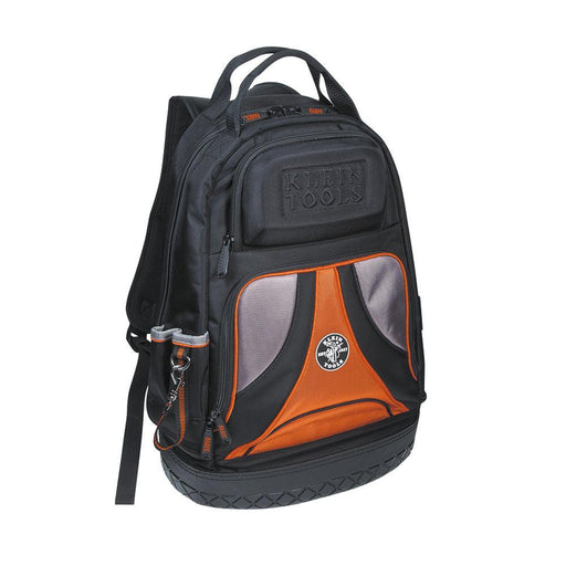 Klein Tools' Tradesman Pro Organizer Backpack features 39 pockets for plenty of tool storage, including a hard, molded front pocket for safety glasses and a front zipper pocket to store loose parts. SKU: KLE55421BP14 UPC:  092644554674