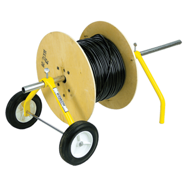 The E-Z Roll Wire Dispenser is the ultra compact and collapsible wheeled wire dispenser. Perfect for transporting wire. SKU: RAC55455 UPC: 625912554559