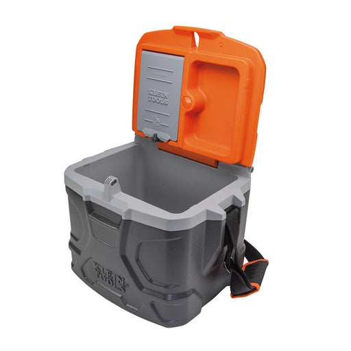The Tradesman Pro 17 quart Cooler stays cool for up to 30 hours. Sit and enjoy your break as this cooler supports up to 300 pounds.  SKU: KLE55600   UPC: 092644556005