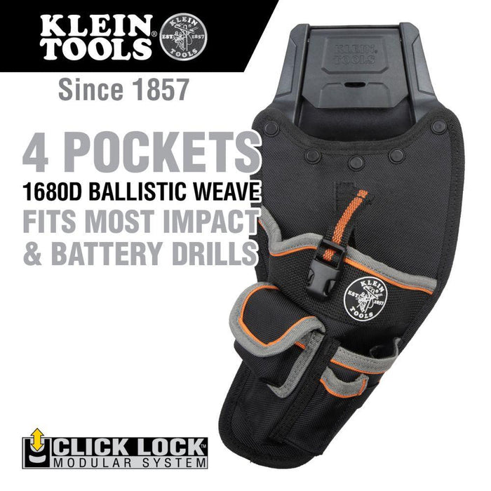 Klein Tools Tradesman Pro™ Modular Drill Pouch with Belt Clip, Model 55917*