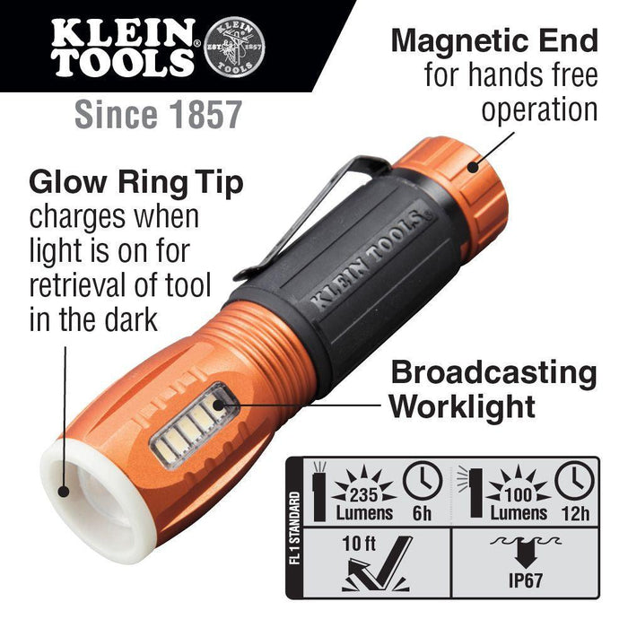 Klein Tools LED Flashlight with Worklight, Model 56028*