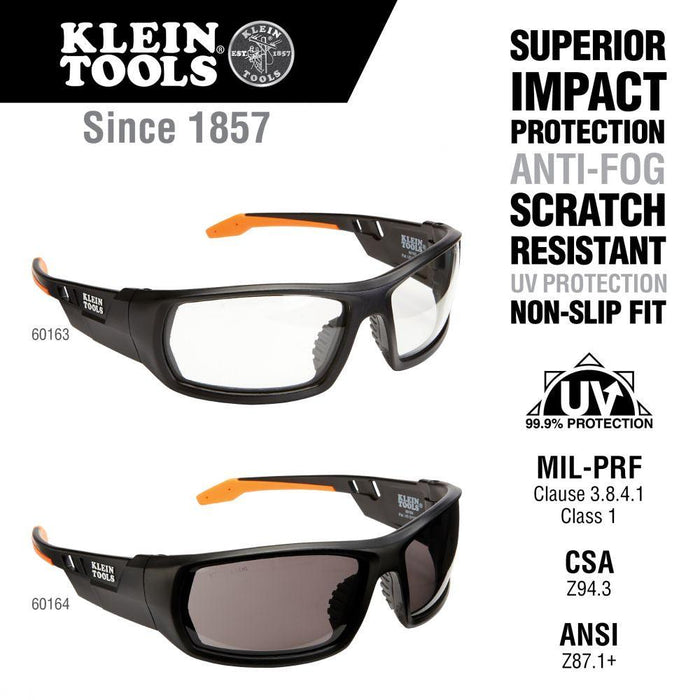 Klein Tools Professional Safety Glasses, Full Frame, Clear Lens, Model 60163*