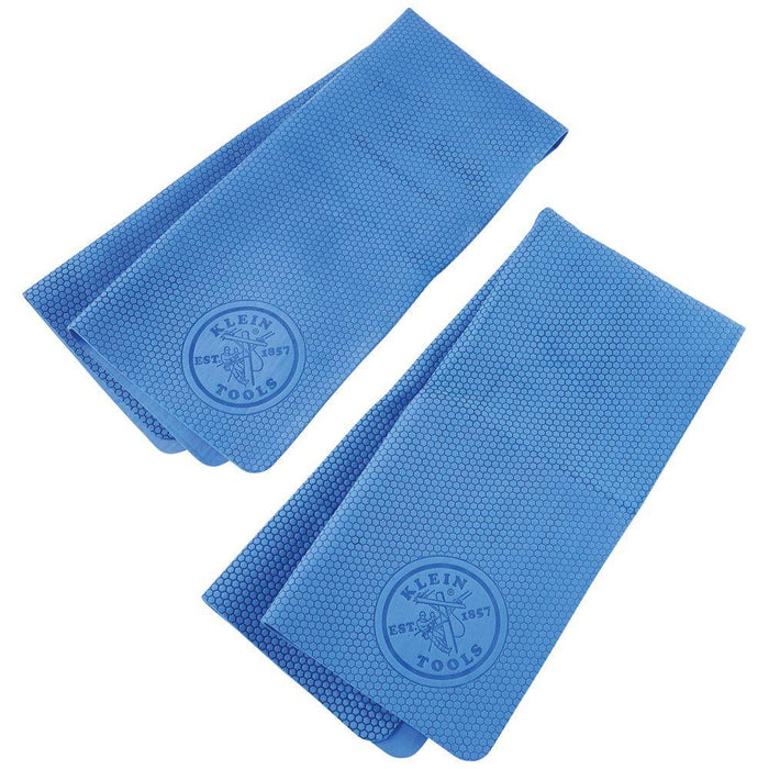Klein Tools Blue Cooling PVA Towel (Package of 2), Model 60230