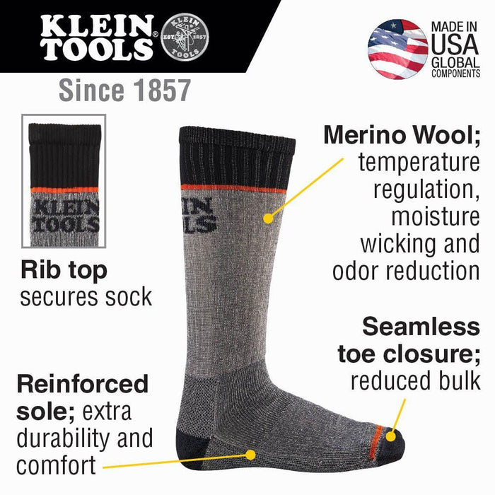 Klein Tools Large Thermal Socks Model 60381