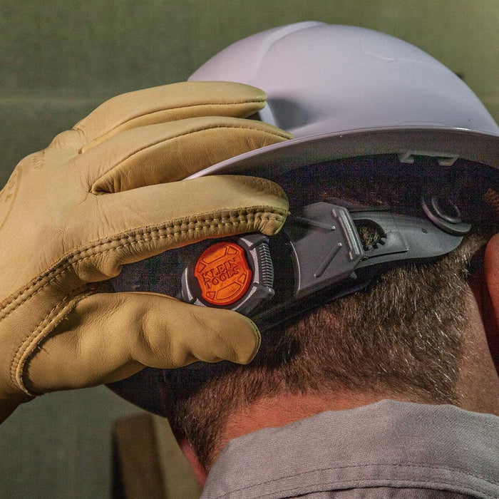 Klein Tools Hard Hats were designed and engineered for optimal safety, comfort and fit. Unique features allow the user to comfortably work in a wide variety of applications and demanding environments. Patent-pending accessory mounts on front and back ensure Klein Headlamps attach securely. SKU: KLE60406 KLE60407RL  UPC: 092644600838