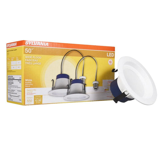 Enjoy energy savings with this Sylvania R30 lamp, it produces a Soft White light (3000K) and is rated for 11,000 hours of operation.  SKU: SYELEDRT4550830  UPC:  046135705212
