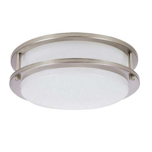 "The Sylvania 10"" LED round flush mount luminaire (15W, 4000K) is a perfect fit for residential, hospitality, and commercial spaces. It has an application for illuminating hallways, offices, bedrooms, living rooms, and other general lighting. This Energy Star qualified fixture provide up to 1000 lumens of light. SKU: SYELEDFLUSHRND10I$12  UPC: 046135714047"