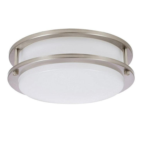 "The Sylvania 12"" LED round flush mount (15W, 3000K) luminaire is a perfect fit for residential, hospitality, and commercial spaces. It has an application for illuminating hallways, offices, bedrooms, living rooms, and other general lighting. This Energy Star qualified fixture provide 1000 lumens of light. SKU: SYELEDFLUSHRND12IN15  UPC: 046135714054"