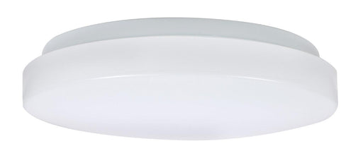 "Sylvania 11"" LED Flush Mount Cloud with Trim is a perfect fit for residential, hospitality, and commercial spaces. It has an application for illuminating hallways, offices, bedrooms, living rooms, and other general lighting. This Energy Star qualified fixture provide 1000 lumens of light. SKU: SYELEDFLUSHDRM11IN40  UPC: 046135715051"