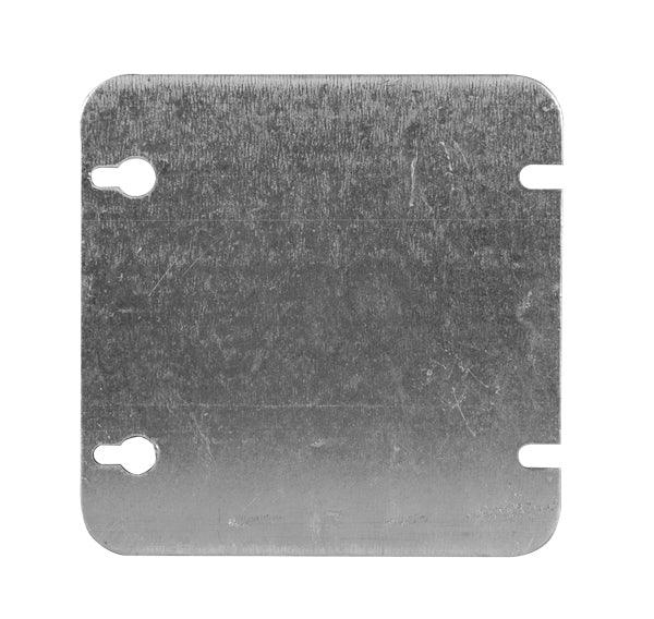 Flat Blank Square Cover 4.688 inches - Utility Covers are used to close convenience outlets, switch boxes or small junction boxes. SKU#: 72C1BAR UPC: 626463000519