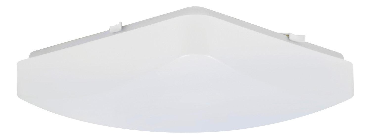"Sylvania 11"" LED square flush mount luminaire is a perfect fit for residential, hospitality, and commercial spaces. It has an application for illuminating hallways, offices, bedrooms, living rooms, and other general lighting. This Energy Star qualified fixture provide 1000 lumens of light. SKU: SYELEDFLUSHSQ11DIM27  UPC: 046135743030"