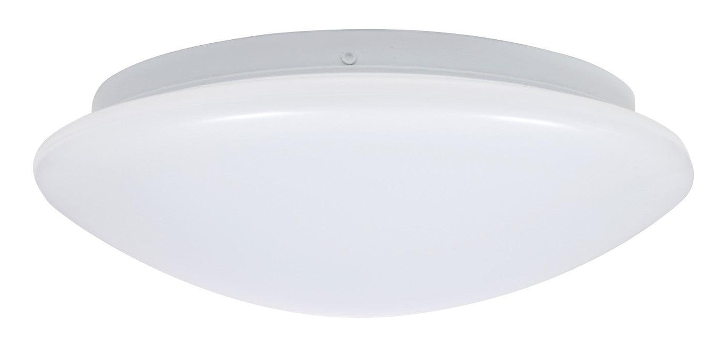 "Sylvania 11"" LED surface mount luminaire is a perfect fit for residential, hospitality, and commercial spaces. It has an application for illuminating hallways, offices, bedrooms, living rooms, and other general lighting. This Energy Star qualified fixture provide 1200 lumens of light. SKU: SYEFLUSHRND11IN16D40  UPC: 046135743061"