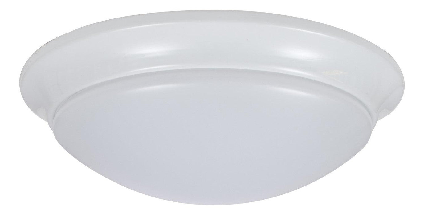 "Sylvania 11"" LED Flush Mount Cloud with Trim is a perfect fit for residential, hospitality, and commercial spaces. It has an application for illuminating hallways, offices, bedrooms, living rooms, and other general lighting. This Energy Star qualified fixture provide 1000 lumens of light. SKU: SYELEDFLUSHRNDTRM$12  UPC: 046135743078"