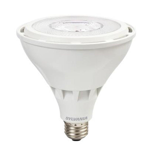 Sylvania Ultra LED HO 25W, 3000K PAR38 Lamp delivers exceptionally high lumen output along with outstanding color uniformity and beam quality utilizing COB technology. The high CBCP performance makes this lamp a great replacement for high power halogen and HID lamps. Its application can be found as downlights, general lighting, and spotlights. SKU: SYELED25PAR38HODIM$  UPC: 046135747960
