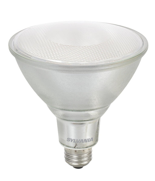 Sylvania Ultra LED Glass PAR38 lamp is ideal for recessed downlights, track lighting, wall wash and general lighting applications in hospitality, office, property management, residential, restaurant, retail and school environments.  SKU: SYELED14PAR38DIMFL  UPC: 046135749438