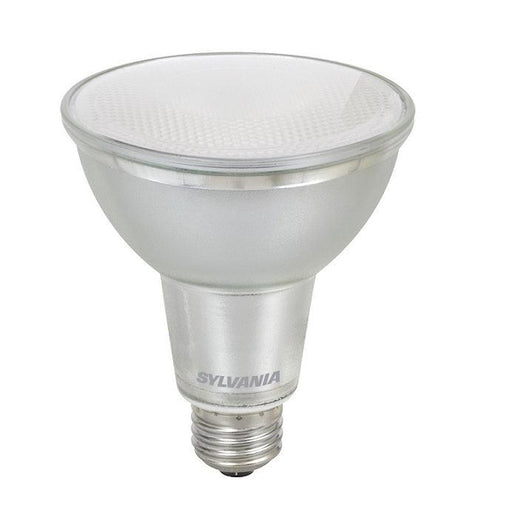 Sylvania 10W Ultra LED Glass PAR30LN Lamp has a glass body with full optics just like halogen PAR lamps. It has been rated for use in enclosed fixtures and is ideal for recessed downlights, track lighting, wall wash and general lighting applications in hospitality, office, property management, residential, restaurant, retails, and school environments. SKU: SYELED10PAR30LNDIM$2  UPC: 046135782503