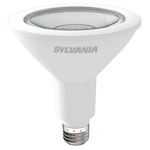Sylvania Contractor Series LED PAR38 lamp offers years of service and reduced energy and maintenance costs.  They are UL listed for use in damp locations and are RoHS compliant with no lead or mercury. They emit no UV or IR radiation that can cause fading and discoloration of fabric or artwork. SKU: SYELED13PAR38830FL4$  UPC: 046135792762