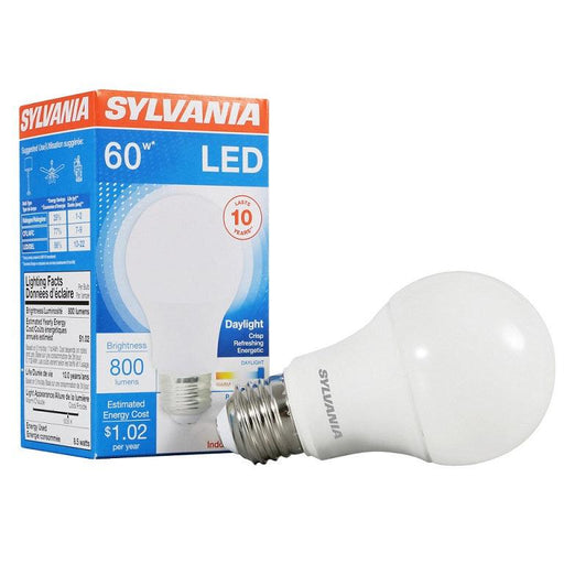 Sylvania Contractor Series LED 8.5W, 5000K A19 Lamp offers years of service and reduces energy and maintenance costs. It is environmentally preferred product. RoHS compliant and contains no mercury, lead or other hazardous materials. It is totally safe as it doesn't emit UV or IR radiation.  SKU: SYELED8.5A19F85010$0  UPC: 046135792816