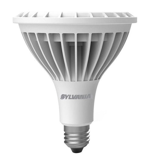 Sylvania 30W, 3000K Ultra LED HO PAR38 Lamp delivers exceptionally high lumen output along with outstanding color uniformity and beam quality utilizing COB technology. The high CBCP performance makes this lamp a great replacement for high power halogen and HID lamps. Its application can be found as downlights, general lighting, and spotlights.  SKU: SYELED30PAR38HO83$11  UPC: 046135796005