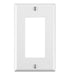 Leviton 1 Gang Decora/GFCI Device Wallplates offer a simple clean aesthetic look; with rounded edges and a smooth finish making it dust resistant. These wall plates easily blend in with any decor, are easy to install and economically priced. UPC: 078477099957