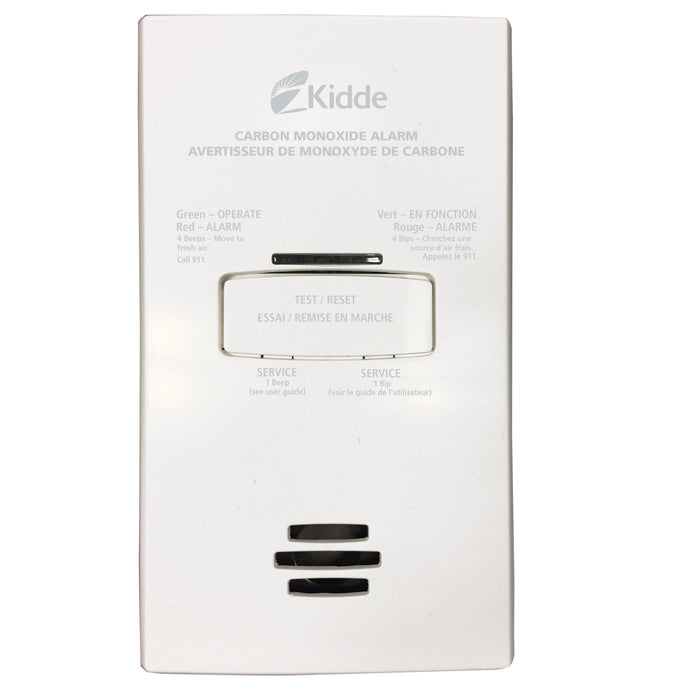 Kidde Carbon Monoxide Alarms provide reliable 24/7 protection even during a power outage. It's advanced technology solutions protect you and your loved ones against the dangers of carbon monoxide. This plug in- with battery back up carbon monoxide alarm is CSA certified and suitable for all living areas. SKU: KID9000263COCA Model: KN-COB-DP2CA UPC: 047871272044