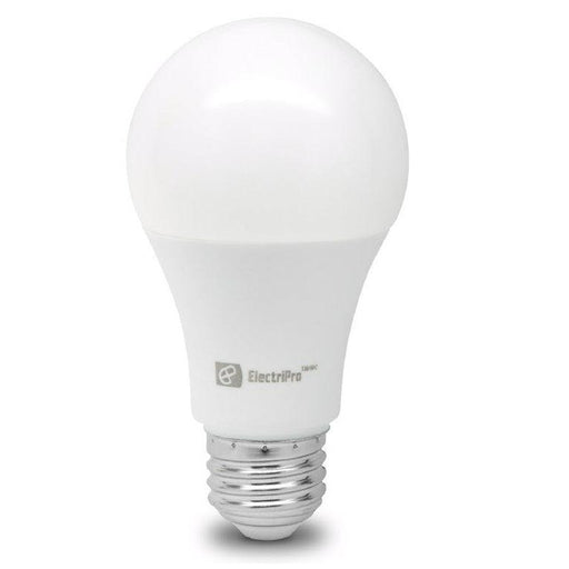 Electripro LED 10W lamp replaces a standard 60W A19 lamp. This Energy Star qualified lamp is dimmable and produces Soft White Light (3000K). SKU#: 10A19LED830DFR UPC: 067805474597