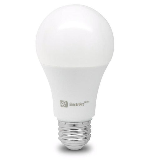Electripro LED 6W lamp replaces a standard 40W A19 lamp. This Energy Star qualified lamp is dimmable and produces Soft White Light (3000K). Rated for 15,000 hours of operation. SKU: EPO6A19LED830DFR UPC: 067805474580