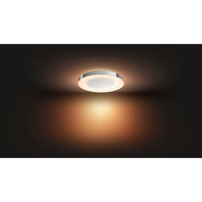 Brighten your daily activities with the Adore ceiling light, whose simple, round design matches any decor. Switch between preset light scenes or dim the lights with the included dimmer switch.  SKU: PHI3435011U7   UPC: 046677801571