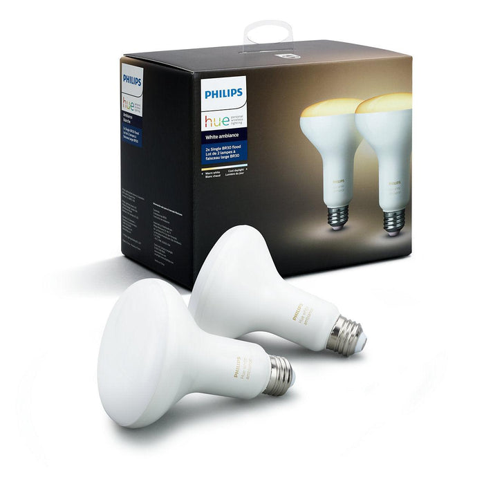Made to light a larger area, these two floodlight smart bulbs provide warm to cool white light to help you get energized or relax. SKU: PHI466508 UPC: 046677466503