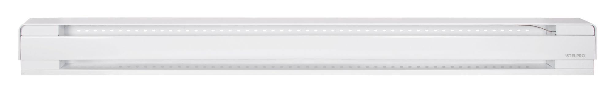 The B1502W Brava electric baseboard heater is ideal for the bathroom, bedroom, living room, hallways, commercial spaces and offices. It's one piece design makes it quick and easy to install. SKU: SETB1502W  UPC:626296184592