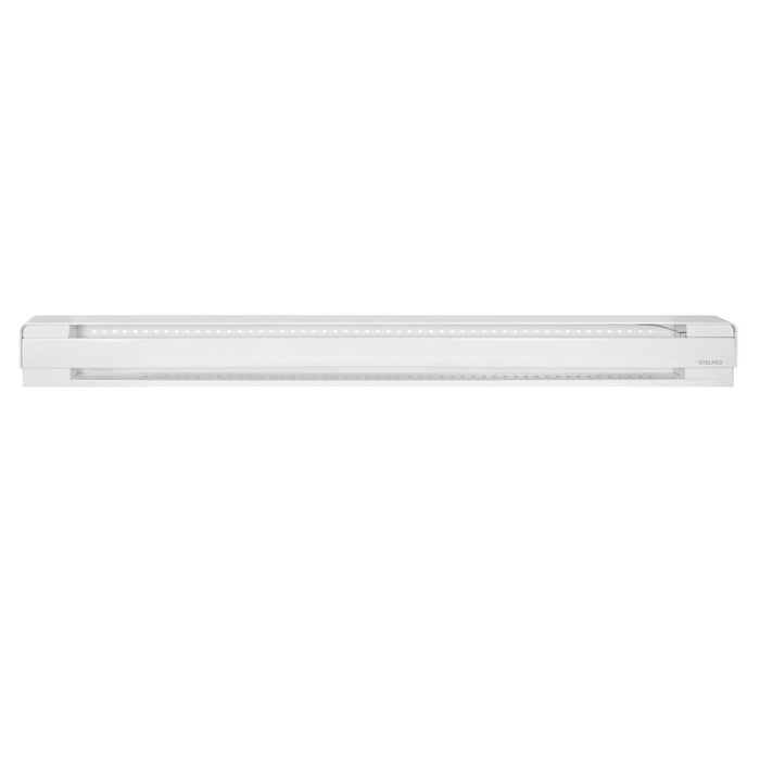 The B1752W Brava electric baseboard heater is ideal for the bathroom, bedroom, living room, hallways, commercial spaces, and offices. Its one-piece design makes it quick and easy to install. SKU: STEB1752W  UPC: 626296184608
