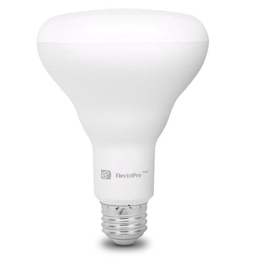Electripro LED 9W lamp replaces a standard 65W BR30 lamp. This Energy Star qualified lamp is dimmable and produces Warm White Light (2700K). Rated for 25,000 hours of operation.  SKU#: 9BR30LED827DIM UPC: 067805474573