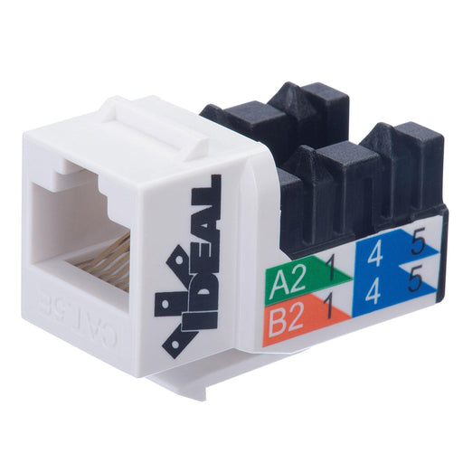 High performance modular jack connectors designed to exceed the CAT5e requirements giving installers the ability to use these products in residential and commercial installations. SKU: IDE89750WH UPC: 783250778720