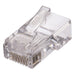 The Ideal CAT5e Feed-Thru RJ-45 Modular Plugs are designed to provide a simpler and faster method for assembling and terminating RJ-45 modular plugs. Wires feed-thru the connector and are trimmed flush when crimped with a compatible tool. SKU: IDE85370 UPC: 783250853700