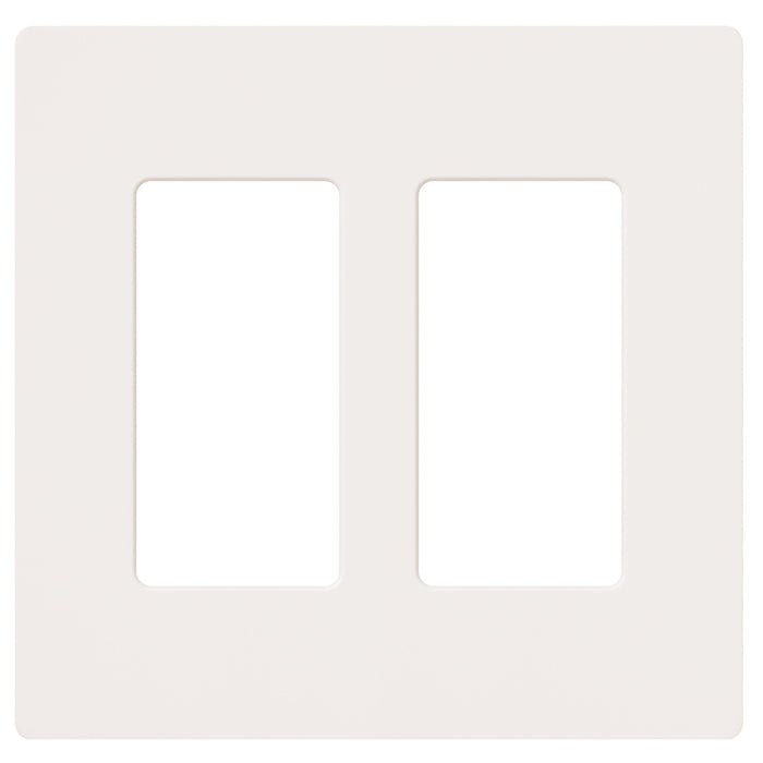 Lutron's contemporary 2 Gang Claro Wallplate is designed to compliment your fan speed controls, dimmers, switches, receptacles, cables and phone jacks. SKU#: CW-2-WH UPC: 027557692113