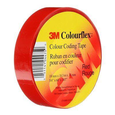 Identify leads, splices and terminations with Colourflex Tape. Its abrasion and weather resistant, perfect for mechanical and electrical insulation applications. This tape is flexible and durable allowing it to wrap smoothly and maintain a tight hold over a wide range of temperatures. SKU# MMMCOLOURFLEXRED 7000134426 UPC: 051141044750 00051141047584