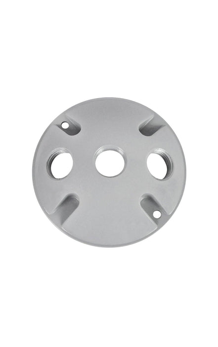 The DC100 aluminum cover is made with three 1/2'' opening.  SKU# RABDC103, RAB95777 UPC: 061184957771