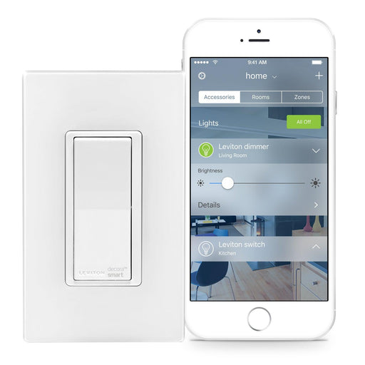 Control your lights in comfort, with the free Leviton app that gives you the ability to control connected loads, and create zones for each room, as well as access to advanced lighting control settings including LED response activity.  SKU#: DH15S-1BZ DH15S701  UPC: 078477806876 078477766613