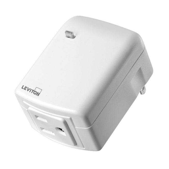 "Schedule your plugged-in appliances to turn on/off from anywhere using the ""My Leviton"" app with this Decora Smart plug-in outlet. #: DW15A-1BW DW15A742  UPC: 07847779645 078477813485"