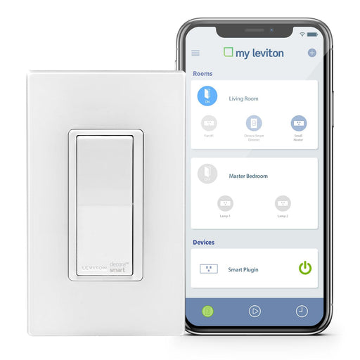 Control your lights and connected loads from anywhere using Wi-Fi and the free My Leviton app with this Decora Smart switch. Schedule your lights and other connected loads to turn on/off at specific times or based on sunrise/sunset. SKU#: DW15S701 DW15S-1BZ  UPC: 078477813515