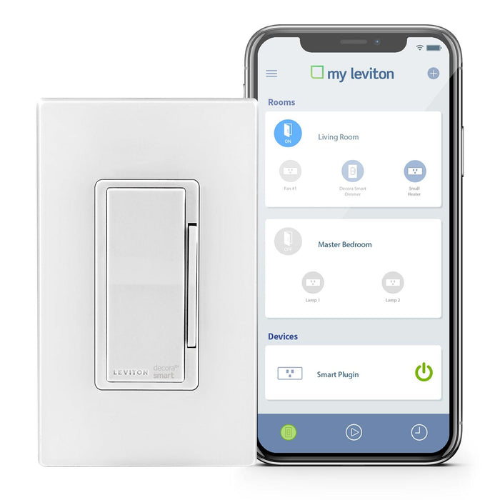 Control your lights from anywhere using an internet connection and the free My Leviton app with the Decora Smart LED/Incandescent Dimmer. Schedule lights and other connected devices to turn on/off at specific times or at sunrise/sunset. SKU#: DW6HD701 UPC: 078477813492