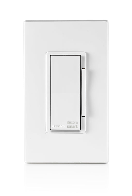 Schedule lights and other connected devices to turn on/off at specific times or at sunrise/sunset. This Smart Decora Dimmer allows you to easily group smart devices into rooms, and create scenes to activate multiple lights at once. SKU#: DW6HD701 UPC: 078477813492