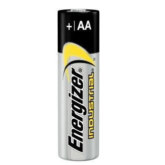 Energizer batteries are the most durable batteries on the market. AA Alkaline Industrial Batteries- Pack of 24 SKU: EVEEN91 UPC: 10039800019193
