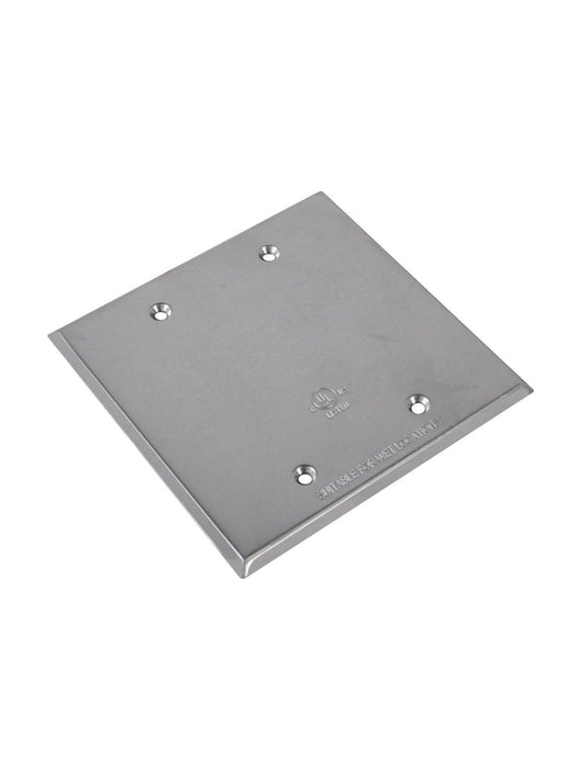 The FS-2C 2 gang aluminum cover is a stamped aluminum cover for 2 gang rectangular boxes. SKU#: RABFS2C, RAB8636  UPC: 061184086365
