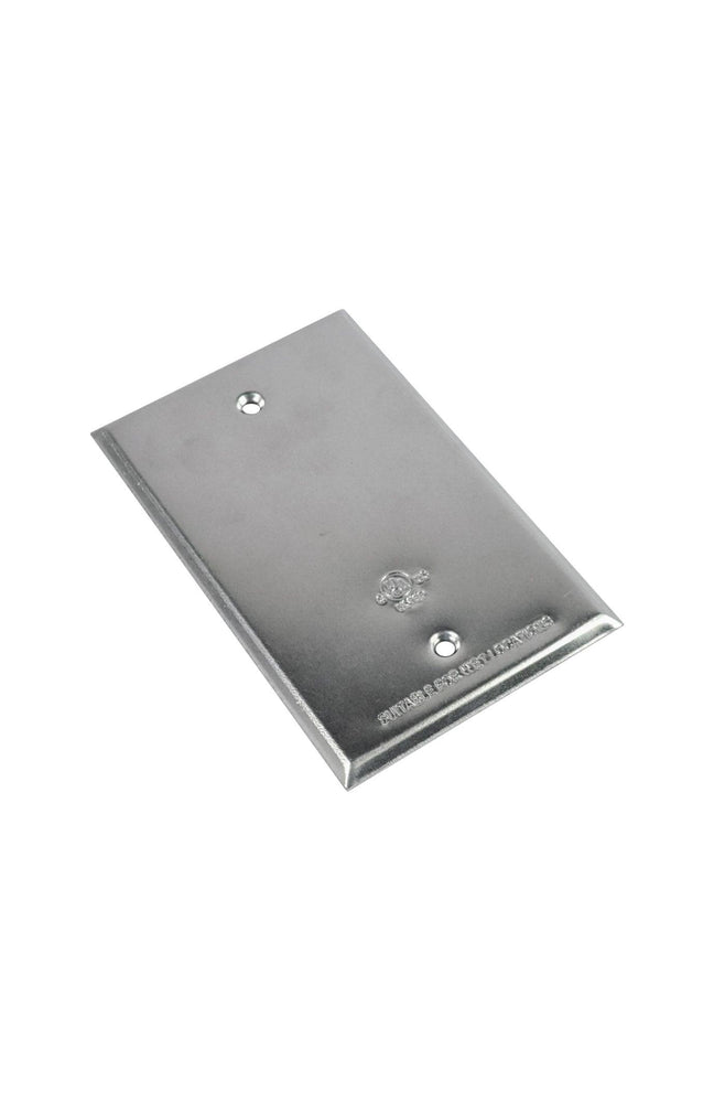 The FS-C 1 gang aluminum cover is a stamped aluminum cover for 1 gang rectangular boxes. SKU#: RABFSC, RAB8637 UPC: 061184086372