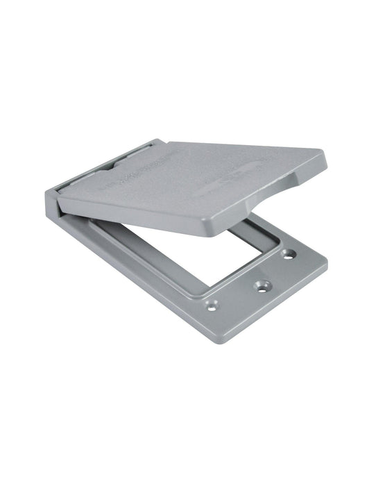 The GFI-V 1 gang vertical cover is made of die cast aluminum, it has a spring-loaded lid and comes with weather seal gasket and screws. SKU#: RABGFIV, RAB8663 UPC: 061184086631
